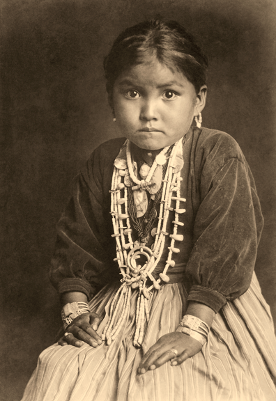 Photograph of a beautiful Native American child taken by