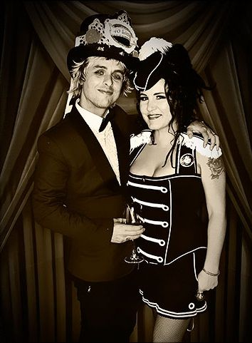 Billie Joe Armstrong and Adrienne Armstrong