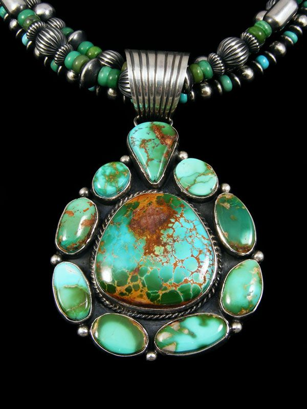 Sterling Silver Pendant with North American Turquoise Sphere