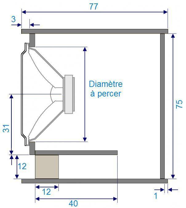 plan de caisson de basse haut parleur 21 pouces 2 long. Black Bedroom Furniture Sets. Home Design Ideas