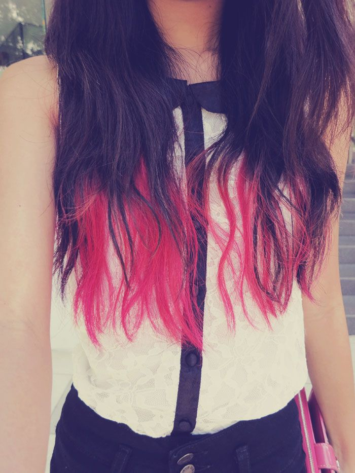 Pink dip dye actually looks gd with black hair gorgeous 3 pink dip dye actually looks gd with black hair pmusecretfo Images