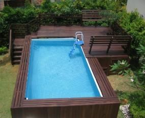 Intex ultra frame with deck google search pool and for Piscine hors sol ultra frame