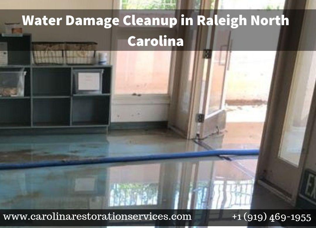 Call carolina restoration services at 9194691955 for