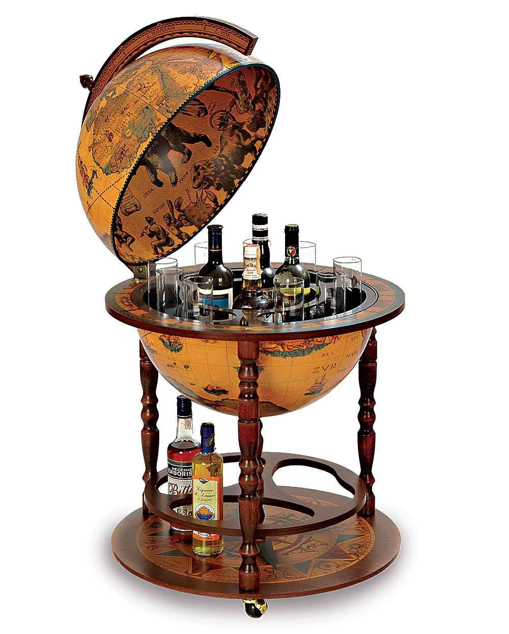 Morientez Globe Barthe Bar Is A Budget Drinks Cabinet That Can Up To 4 Bottles And 12 Gles In Its Century Replica Antique