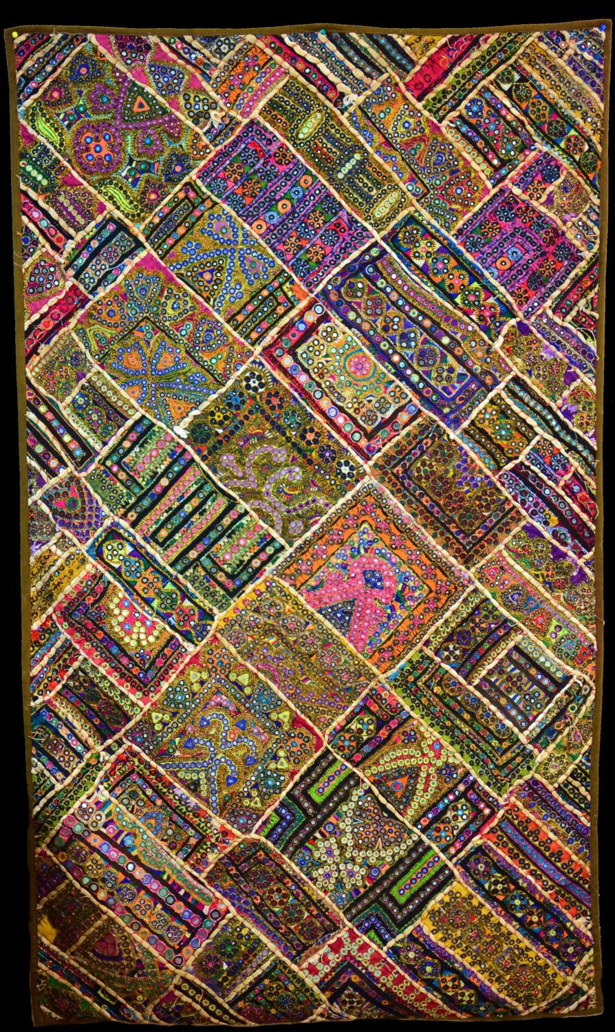 embroidered sindhi patchwork decorative wall decor unique decor embroidered sindhi patchwork decorative wall decor unique decor home decor sindh textile sindhi handmade wall hanging wall art tapestry