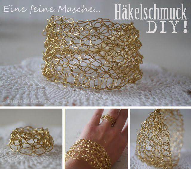 fingerfabrik h kelschmuck brigitte weihnachts bloggerei crochet jewellery handicraft. Black Bedroom Furniture Sets. Home Design Ideas