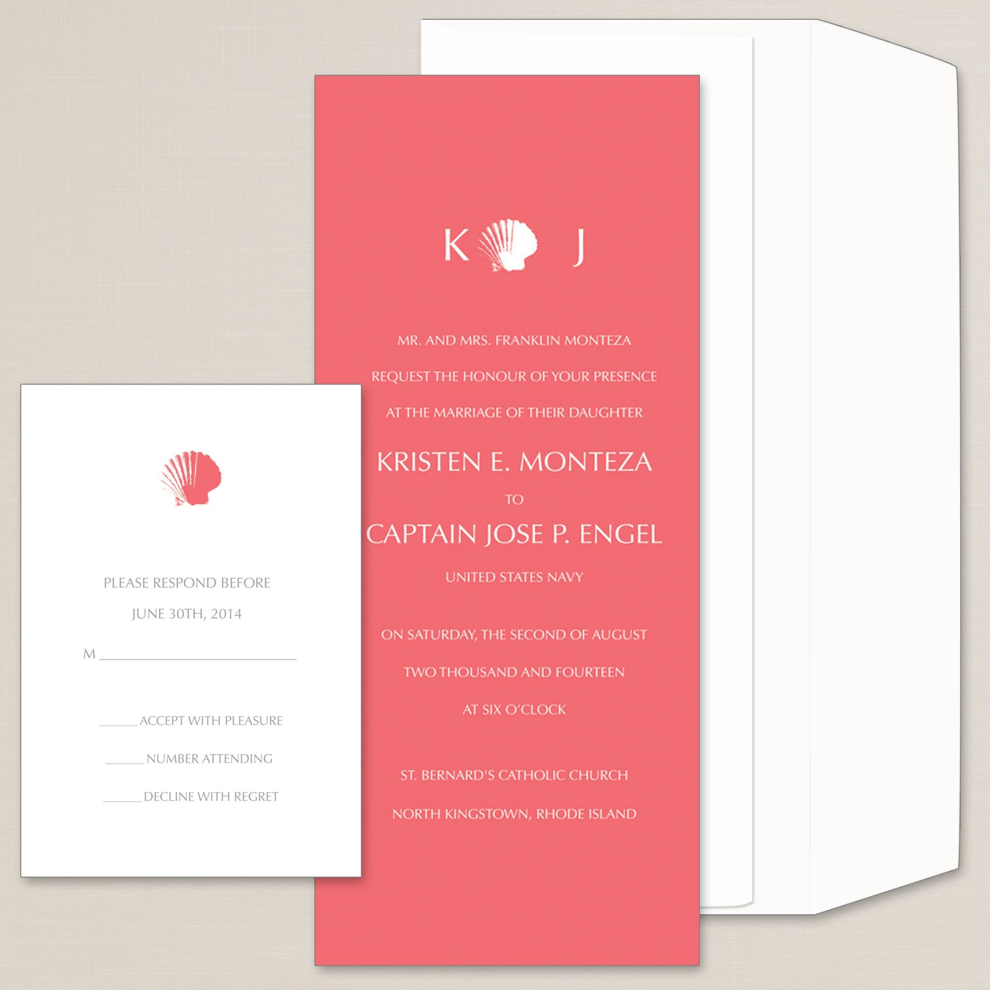 Seaside Splendor Wedding Invitation | #exclusivelyweddings | graphic ...