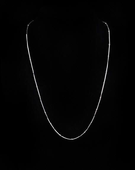 """Our sterling silver Bamboo Necklace is beautifully crafted from artisans in Nepal.  A portion of the sale of all Nepalese are is donated to SOUP (Society or the Urban Poor) specifically dedicated to educating a group of femal micro-entrepreneurs' children in Kathmandu. Comes in 18"""" or 20"""" Price: $50  Olina Faire... a World of reasons to Party! www.olinafaire.com"""