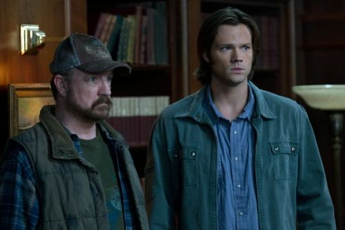 Jared Padalecki as Sam Winchester and Jim Beaver as Bobby Singer on Supernatural.  Photo courtesy of The CW