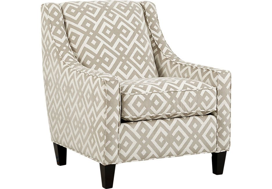 Cindy Crawford Home Chelsea Hills Beige Accent Chair With Images