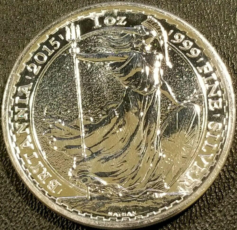2015 Great Britain 1 oz .999 Silver Britannia 2ツ」 Coin