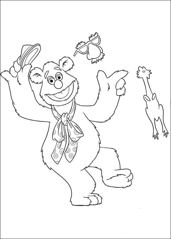 Muppets Fargelegging. Tegninger 17 | Disney Muppets Coloring Pages ...