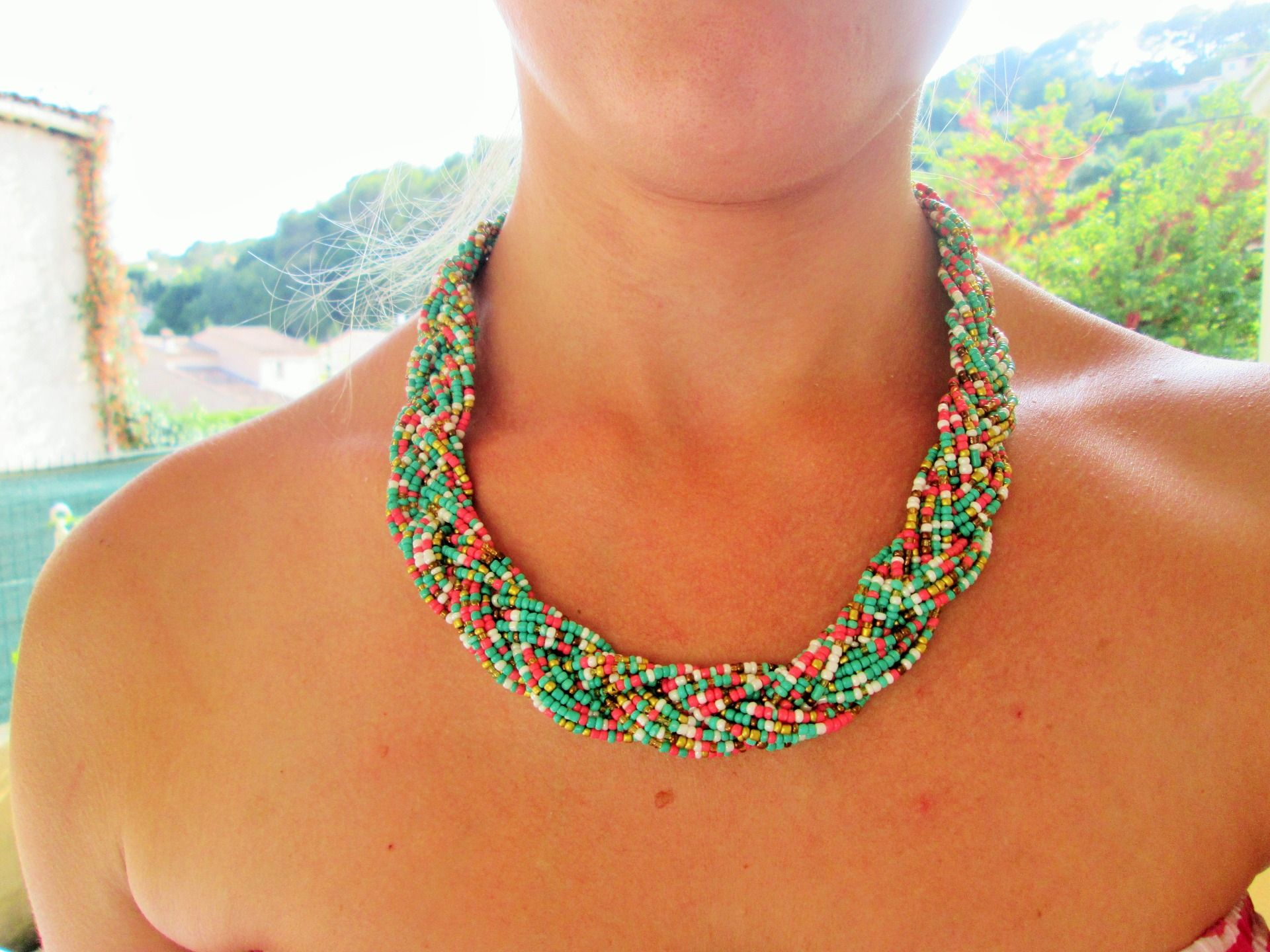 collier en perle de rocaille