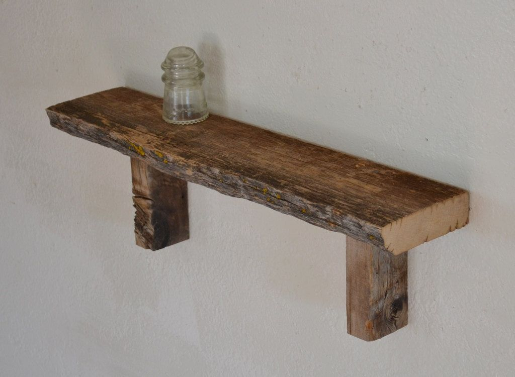 Reclaimed Barn Wood Wall Shelf Simple And Unique 24 Inches