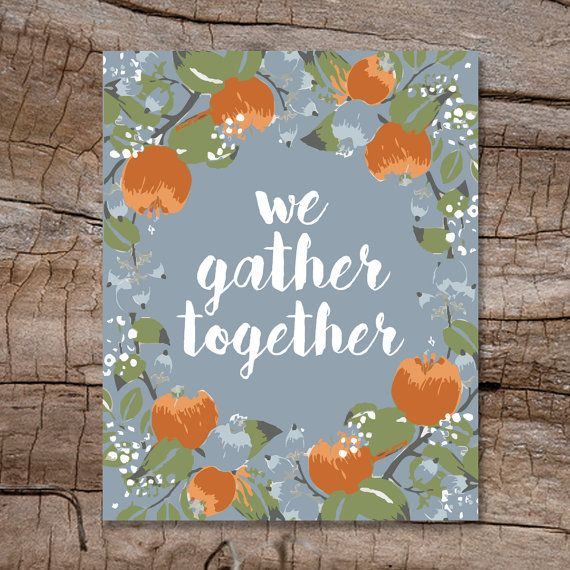 We Gather Together Thanksgiving Wall Decor by HeidiLynnCreations ...