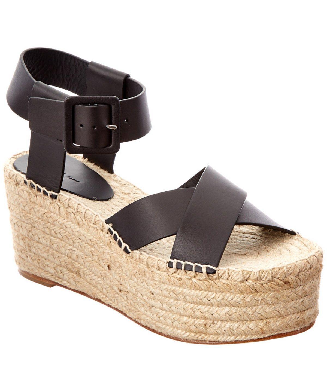 9d81dd56a6b CELINE Celine Leather Espadrille Platform Wedge .  celine  shoes  sandals