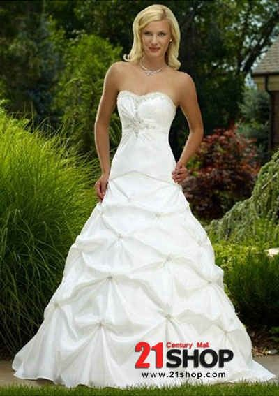 Strapless Empire Bodice with Asymmetrical Pick up A line Skirt Hot Sell Summer Wedding Dress WD-0081