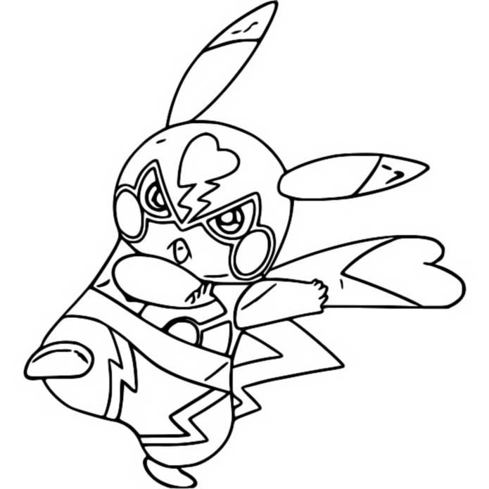 coloring page pikachu pikachu libre 2 di 2020