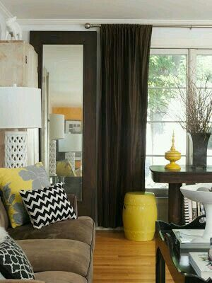 Brown and yellow living room shelly kennedy drooz studio as featured by harris publications in small decorating photographed gridley graves also  mix of cooler warmer oranges are interesting inspiration rh pinterest