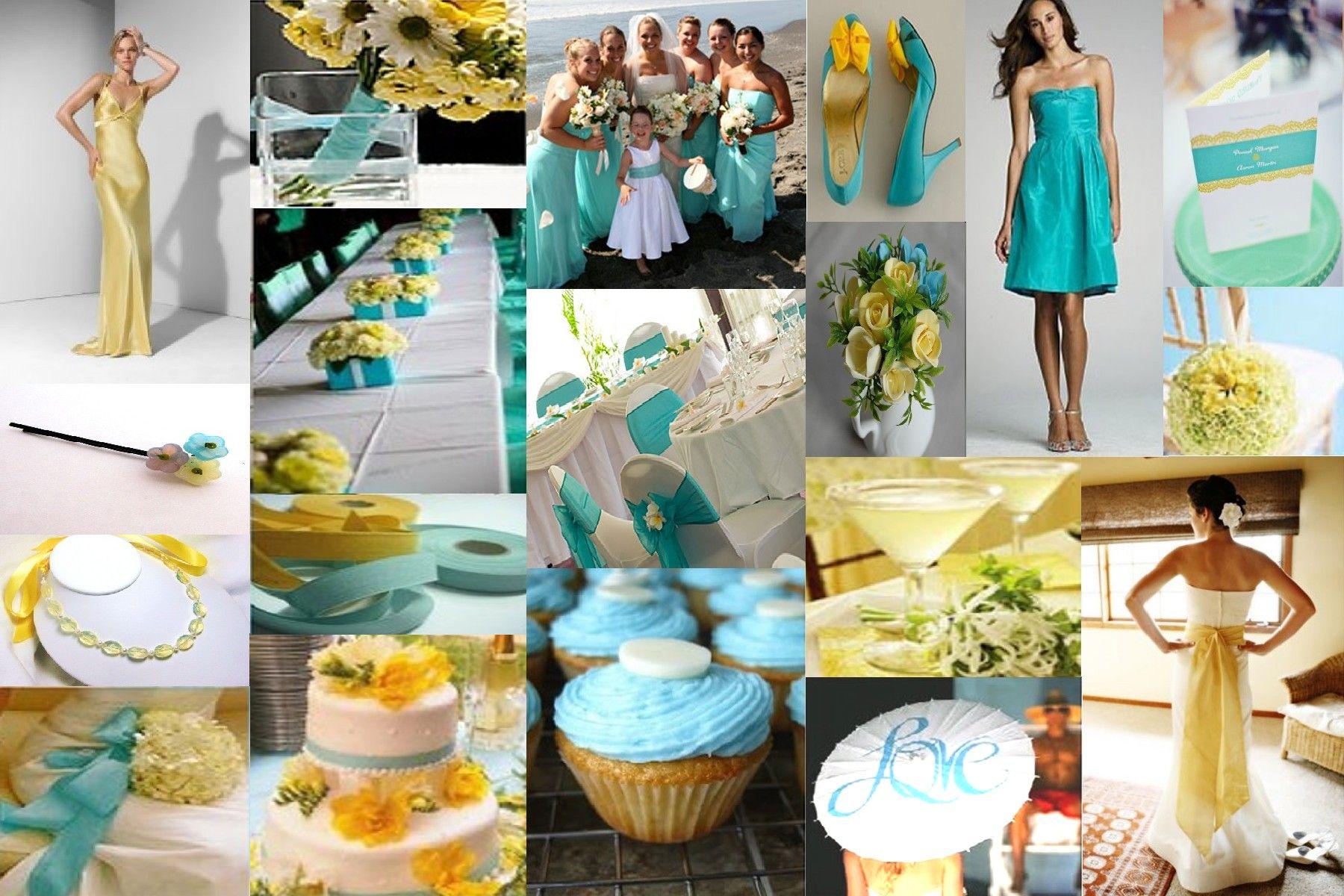 Aqua And Yellow I Do 3 Pinterest Yellow Weddings Weddings