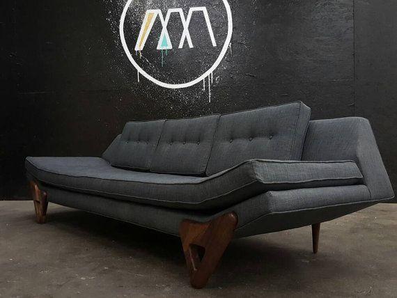 mid century danish modern gondola sofa style with walnut trim in rh pinterest com t&d furniture 3 room special t d furniture mesa az