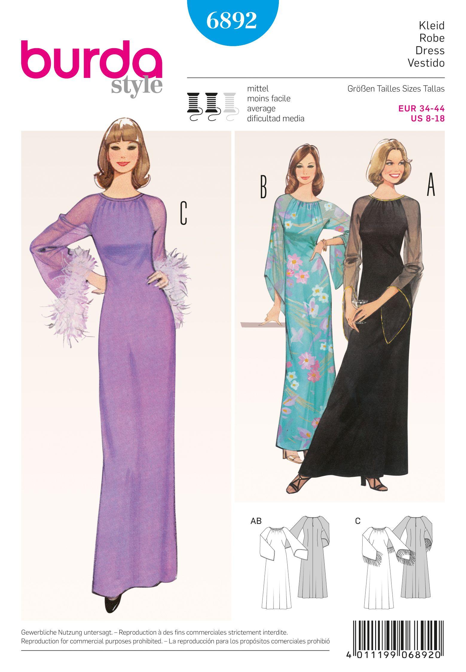 Tipare croitorie rochii de seara si de ocazie Burda Style | Chestii ...