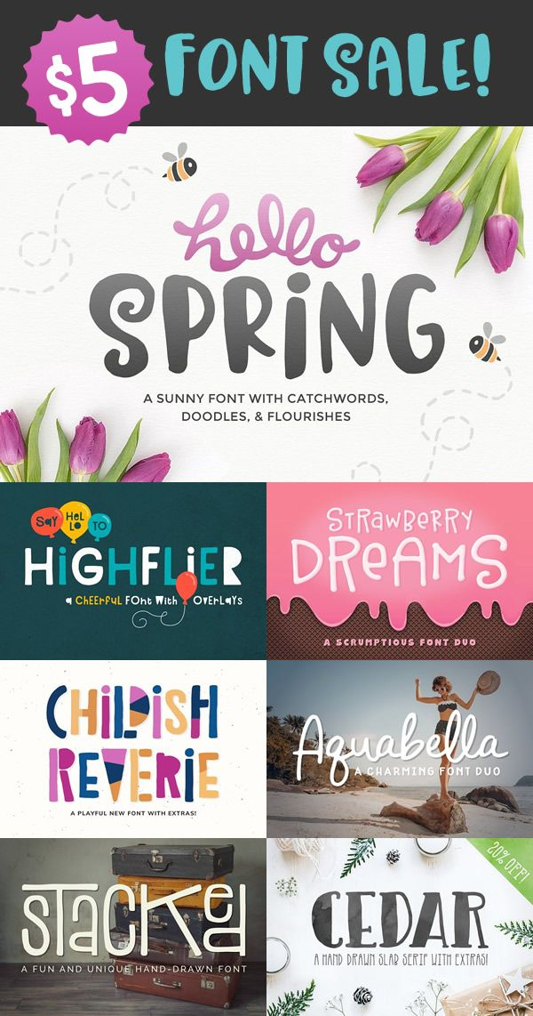 5 font sale for a limited time! Create font, Create