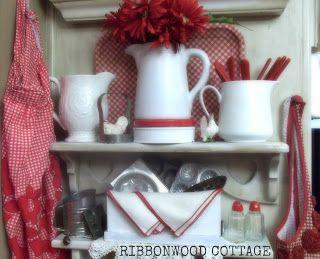 I love red in my kitchen