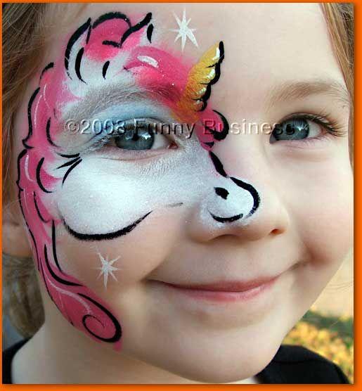 einhorn kinderschminken pinterest einh rner kinderschminken und kinder schminken. Black Bedroom Furniture Sets. Home Design Ideas