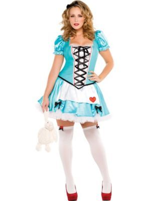 Adult Wonderful Alice Costume Plus Size  sc 1 st  Pinterest & Adult Wonderful Alice Costume Plus Size | Things to do | Pinterest ...