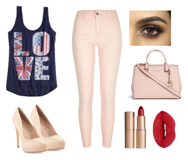 """""""Cause you're all I need. Cause love is all I need"""" by lara-radosevic ❤ liked on Polyvore featuring River Island, Charles by Charles David, Michael Kors and Charlotte Tilbury"""