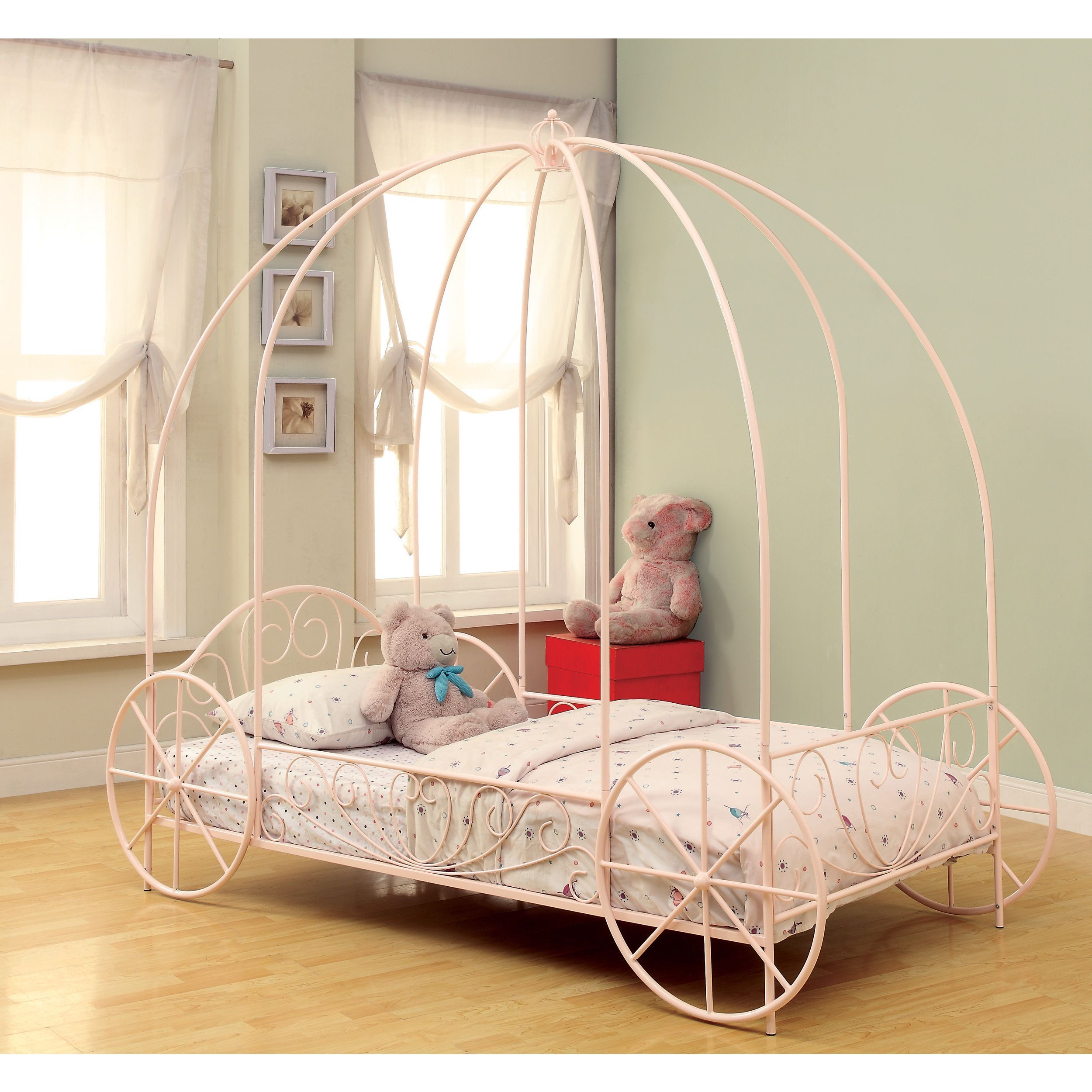Coaster Company Princess Pink Canopy Twin Bed (Twin BED) | Pinterest