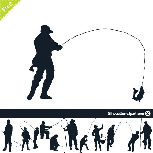 fishermans vector silhouettes fish silhouette silhouette people silhouette fishermans vector silhouettes fish