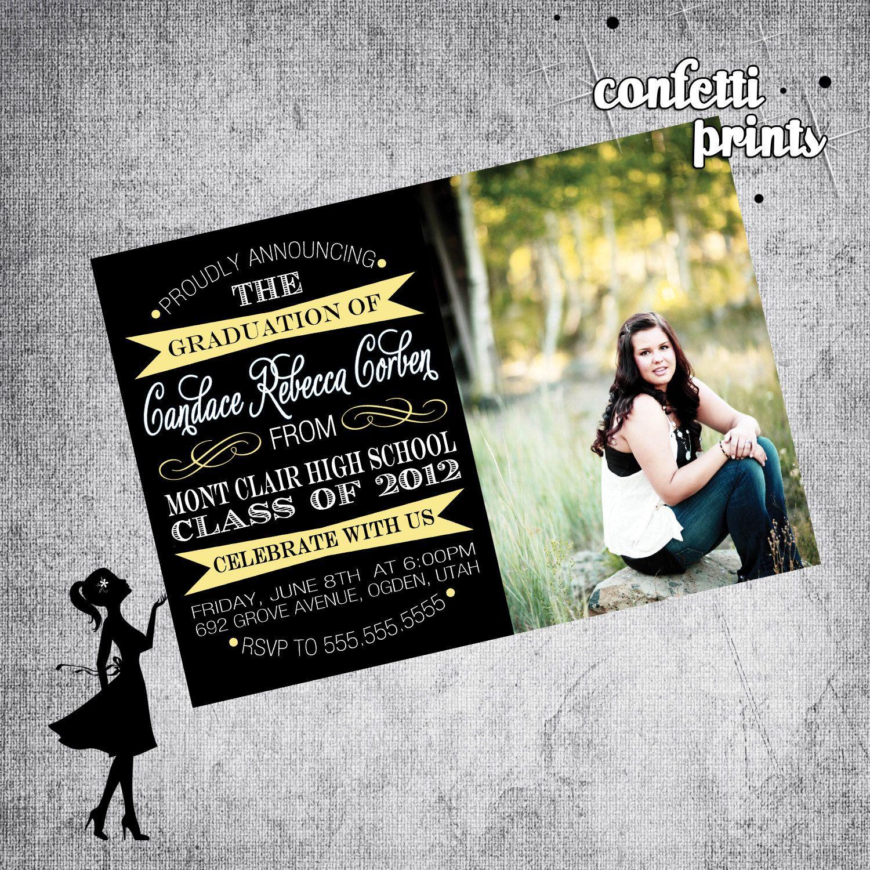 personalized graduation photo card