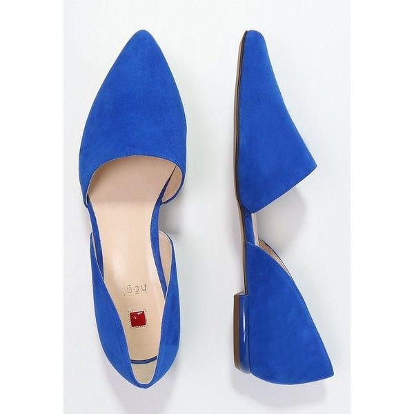 Högl Slip-ons blue ❤ liked on Polyvore featuring shoes, hogl shoes, blue