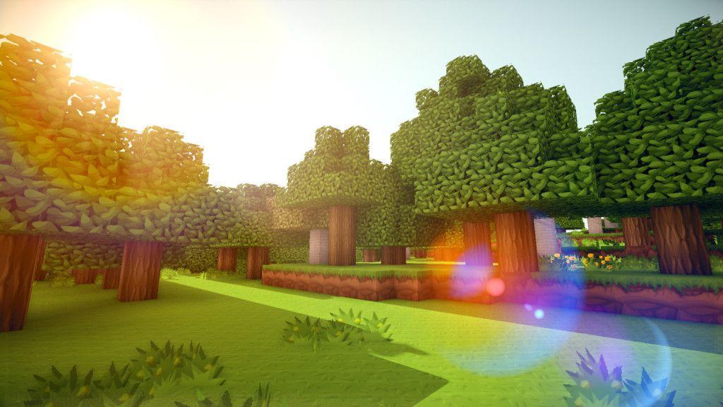 Minecraft Nature Mit Bildern Minecraft Hintergrundbild