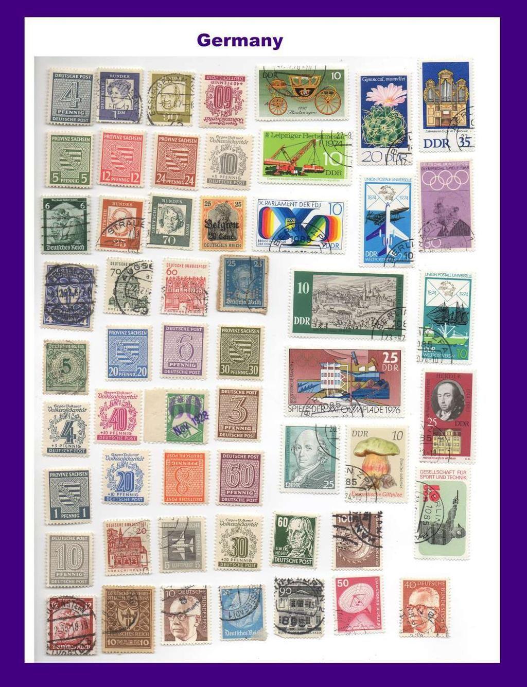 Assorted Germany Stamps Deutsche Post Pfennig 15 via
