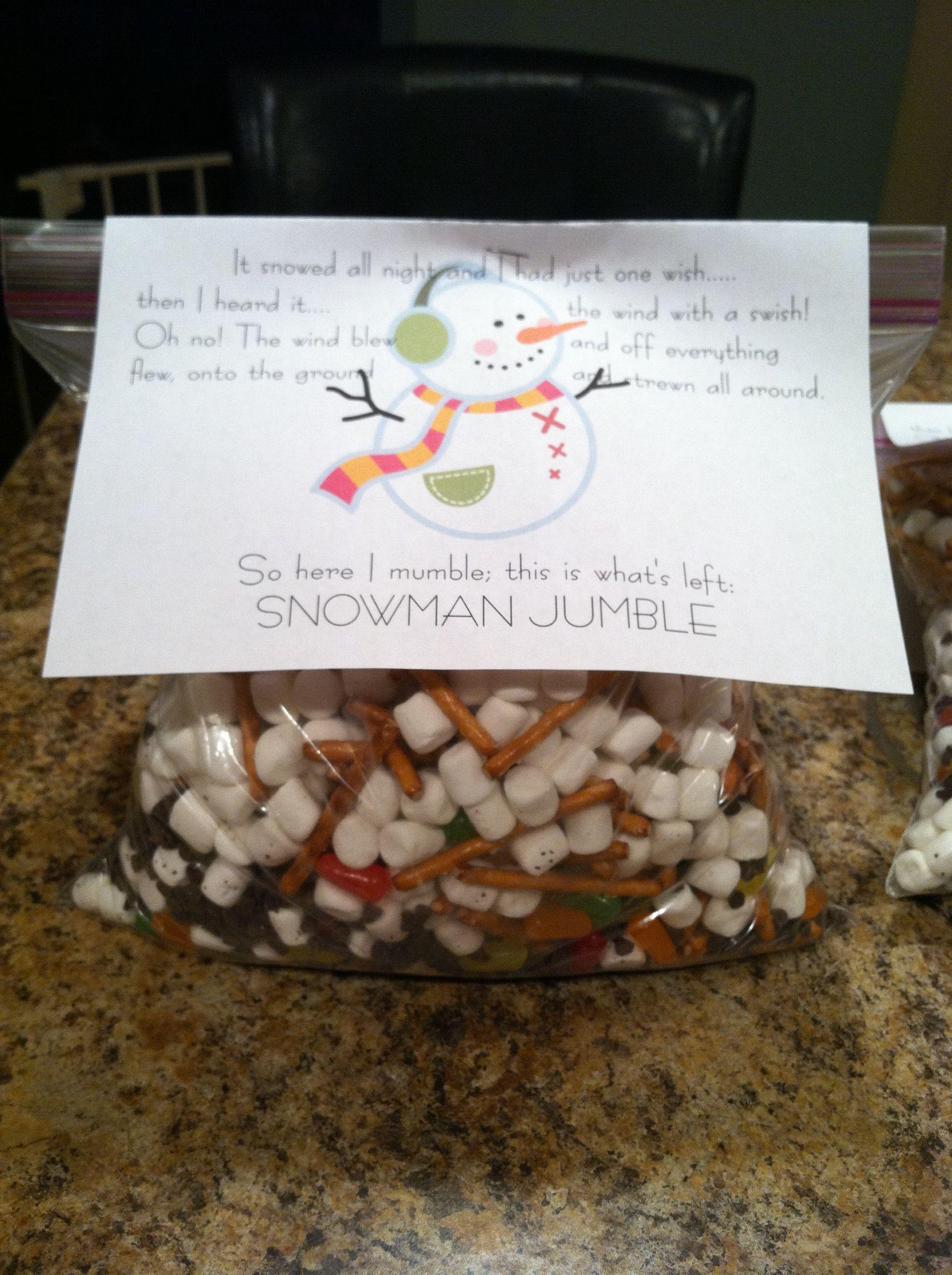 Snowman Jumble Snack