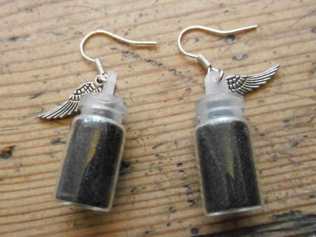 Black fairy dust earrings £5.00