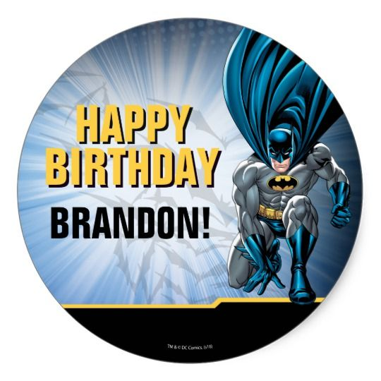 Batman birthday classic round sticker