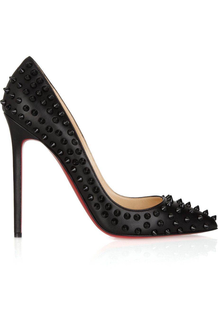 CHRISTIAN LOUBOUTIN Pigalle Spikes 120 studded leather pumps (Net-A-Porter)
