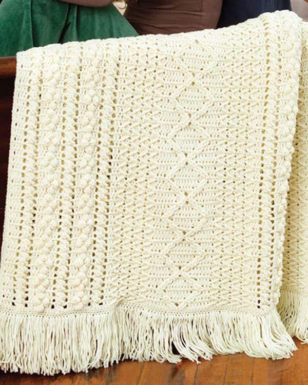 Best Free Crochet » Free Crochet Pattern Heirloom Stitches Throw ...