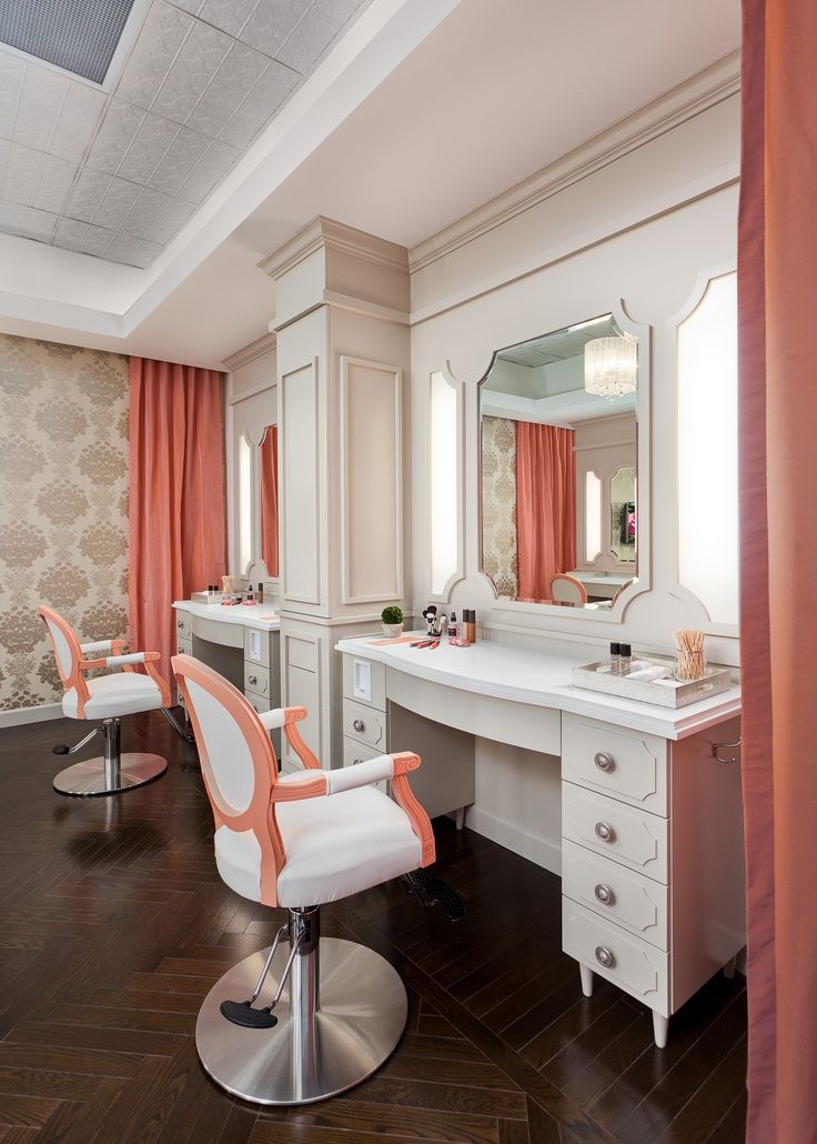Blushington makeup station Salon furniture, Beauty salon