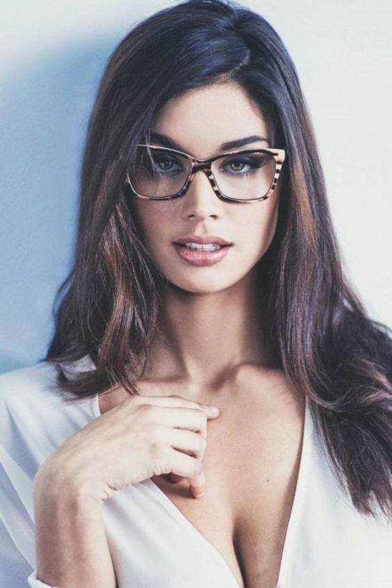Sexy Brunette Teen Glasses