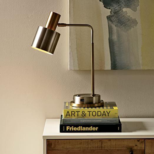 Cylinder Task Lamp: Antique Brass/Antique Nickel