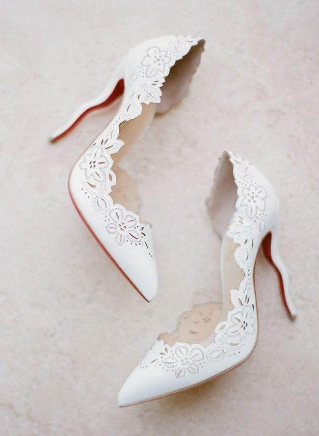 White Wedding Heels Trendybride Stylish