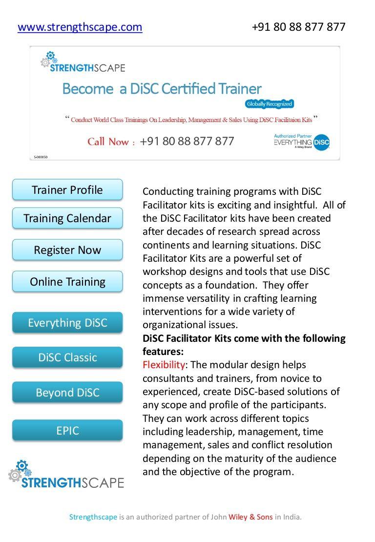 Classic Facilitator Kit Disc Training Program India By