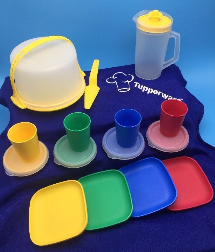 Tupperware Tuppertoys Kids Multi Colored Mini Party Serving Dish Set ... 2301bc25a603