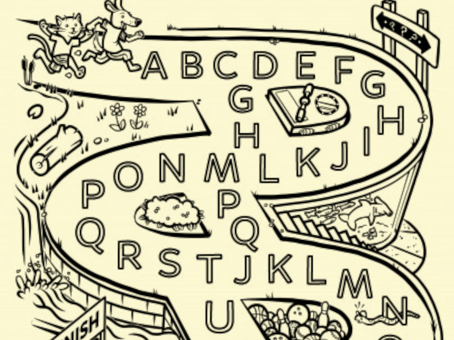 Use This Abc Maze To Help Your Little One Learn The Order