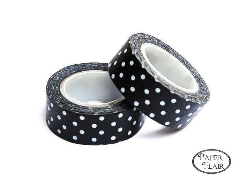 Masking Tape - Punkte schwarz/weiß